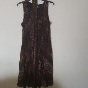 Lepord print dress